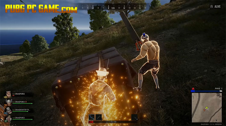 Gameplay of PUBG PC battle royale