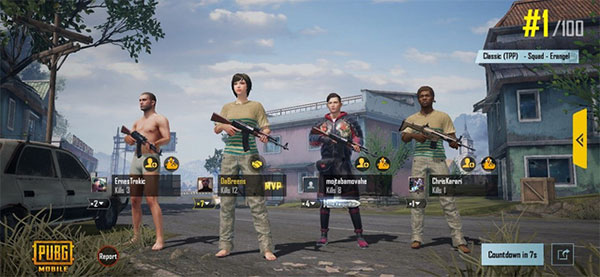 The efficiency between PUBG Mobile and PUBG Console