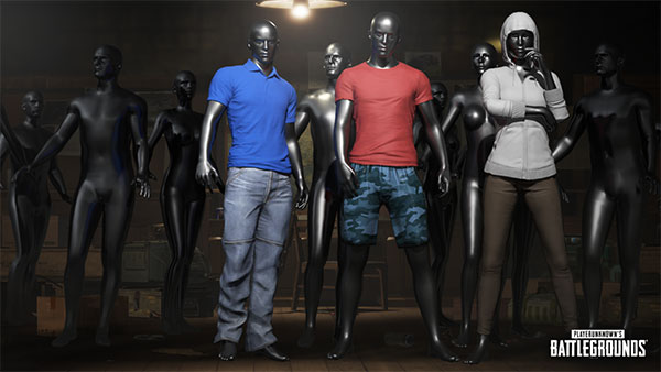 Costume Preset has 3 default colors: Red, blue, white