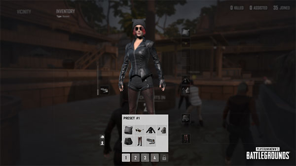 You can change clothes items in every preset