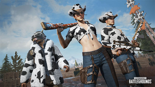 Wear a squads uniform with dairy cows costumes