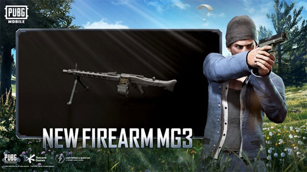 New Weapon MG3 in PUBG Mobile 1.5 Update